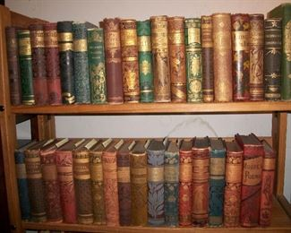 Large selection of beautiful late 19th century Victorian bindings including classics and novels