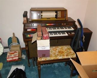 Player Piano and rolls unsure of condition