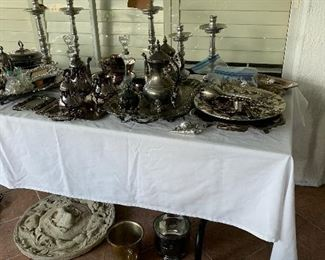 Silver and Sterling Silver Table Full