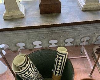 Zinc table and mats