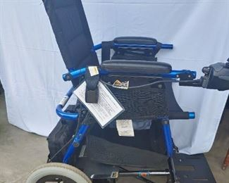 Motorized wheelchair. Has a nice seat pad. Very nice condition. Priced to sell. Batteries were dead so I am buying a new pair.