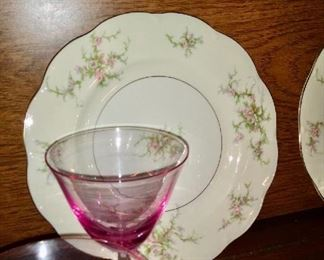 "Haviland ""Rosalinde"" Service for 8 plus serving pieces -- $350"