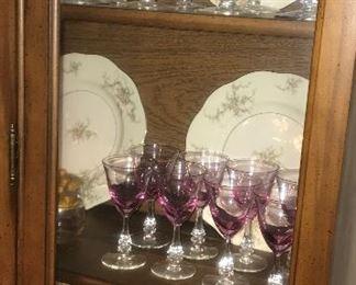 8 Pink Goblets -- 50.00                                                                               8 Pink Wines -- 30.00                                                                                   8 Pink Salad Plates -- 30.00