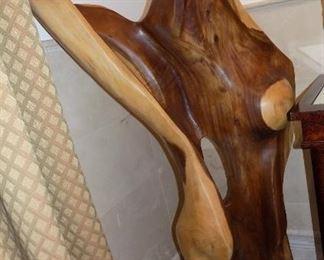 Exotic Oversized Hardwood Sculpture