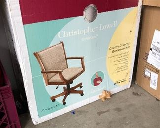 new in box executive desk chair