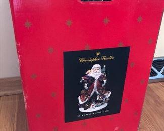 Christopher Radko Kris Kringle Cookie Jar in box