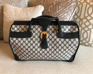 vintage GUCCI large doctor bag - travel bag