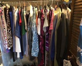 3 closets of women's designer & better name clothes - most sized 12, size 14, size XL, size 1X, size 2X, size 3X