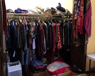 closet #3 of women's clothing - so much to see!