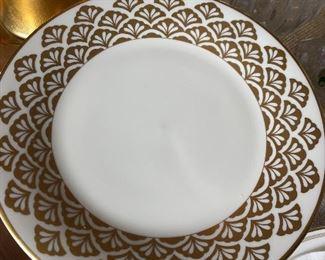 "Pickard ""Ensemble Gold"" 12 salad plates"