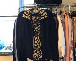 St. John knit jacket & skirt