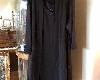 R&M Richards 2pc sheer coat dress sz 1X for black tie