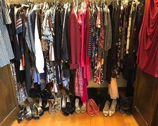 Designer clothes for women sz 10, 12, 14, 16, L, XL, 1X, 2X, 3X includes Lauren Ralph Lauren and lots of shoes in size 11