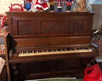 Antique Everett Piano company Eastlake c. 1895 Cabinet Grand