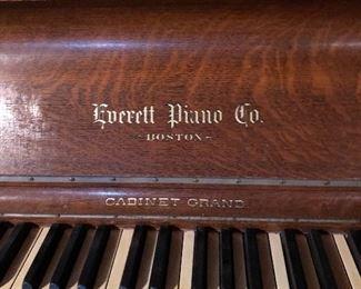 Beautiful Victorian Upright Grand piano c. 1895