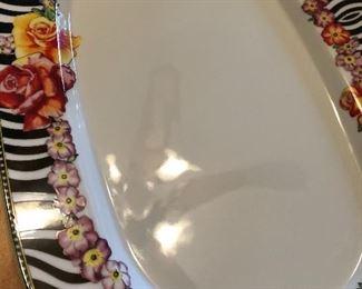 """Versace x Rosenthal """"Hot Flowers"""" platter"""