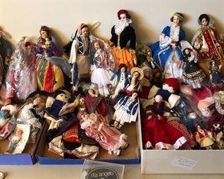 vintage Greek folk dolls & misc vintage dolls