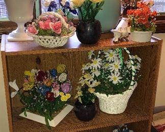 vintage beaded floral arrangements