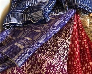 vintage woven wool bedspreads