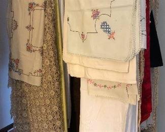 antique & vintage linens, lace, tablecloths, doilies, beautiful!
