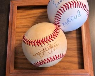 Signed baseballs - Frank Thomas & Ernie Banks