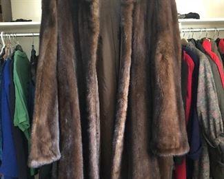Christos 3/4 length mink coat sz L/XL