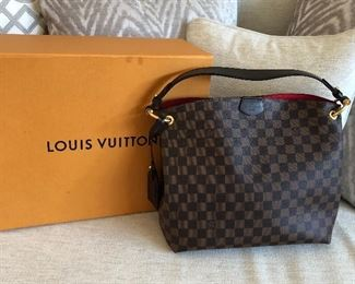 Louis Vuitton Graceful PM Damier Ebene with original box.