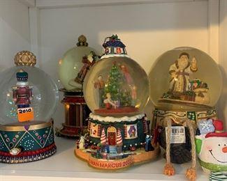Neiman Marcus Christmas snow globes