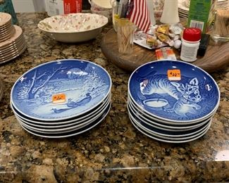 Royal Copenhagen Mother's Day and Christmas plates