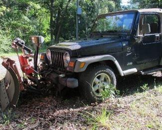 2000 Jeep TJ Sport.  BID ONLINE at https://narhiauctions.hibid.com/auction/231629/online--robert-j--strong-estate/