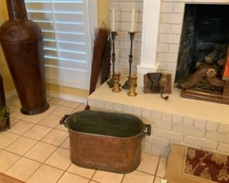 Antique Copper Boiler Wash Tub
