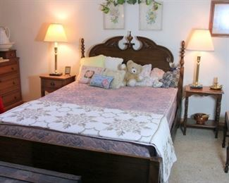 Full Bed Frame & Mattress Set