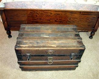 Wooden Steamer Trunk