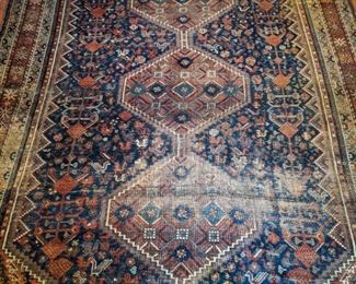 "Wonderful vintage Persian hand-woven rug, measures 7' 1"" x 10' 3""."