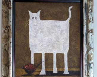 GREAT kitty art - it's heavy and love the frame.