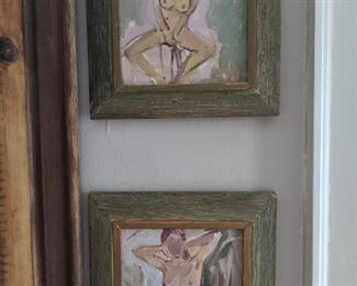A pair (5 available) of original oil on board female nudes, by Russian artist Dmitriy Proshkin.