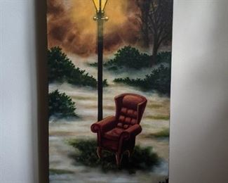 """The Thinking Chair"", by Atlanta artist Byron M. Ray."