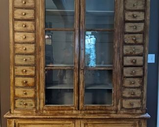 "LARGE Antique French Display Cabinet, measuring 7' 7""T x 5' 6""W x 16""D, original cost?                                        Over $10K - it's the real deal!"