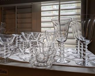 There are 73 pieces of Imperial Candlewick glass available.