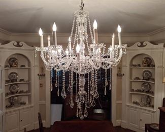 16-light Murano Italian crystal chandelier - this is a real stunner!