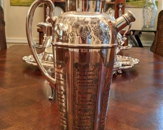 LOVE this 1920's Prohibition Era Bernard Rice's Sons, Inc. (NY) martini shaker.