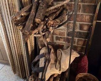 5.Iron Fireplace Wood Holder  $42