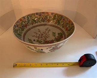 "89.Oriental Rose Family Bowl  12""W  $45"