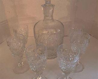90.Decanter w/six glasses  $45