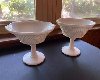 43.2 Milk Glass Compotes  $12