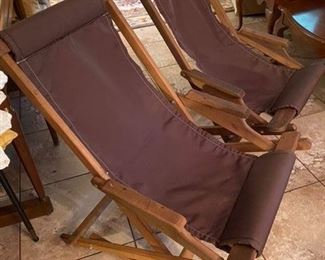 12.Lightweight Folding Teak Chairs   $100