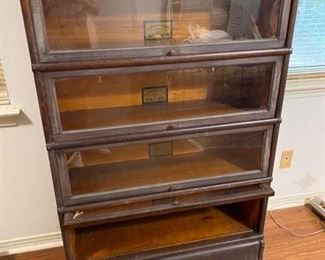 """53.Lawyer's Bookcase from The Globe Wernicke, Size D 8 ½  Grade 299  4 Stack                                   34""""L x 12""""D x 54"""" H        $350"""