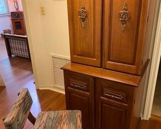 58.Sewing Cabinet w/Chair on Wheels  Singer Model 9010   $195