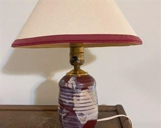 """59.Pottery Lamp   14""""H  $14"""
