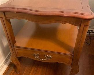 """77.French Provincial Side Table  25""""D 19.5""""L x 23""""H   $45"""